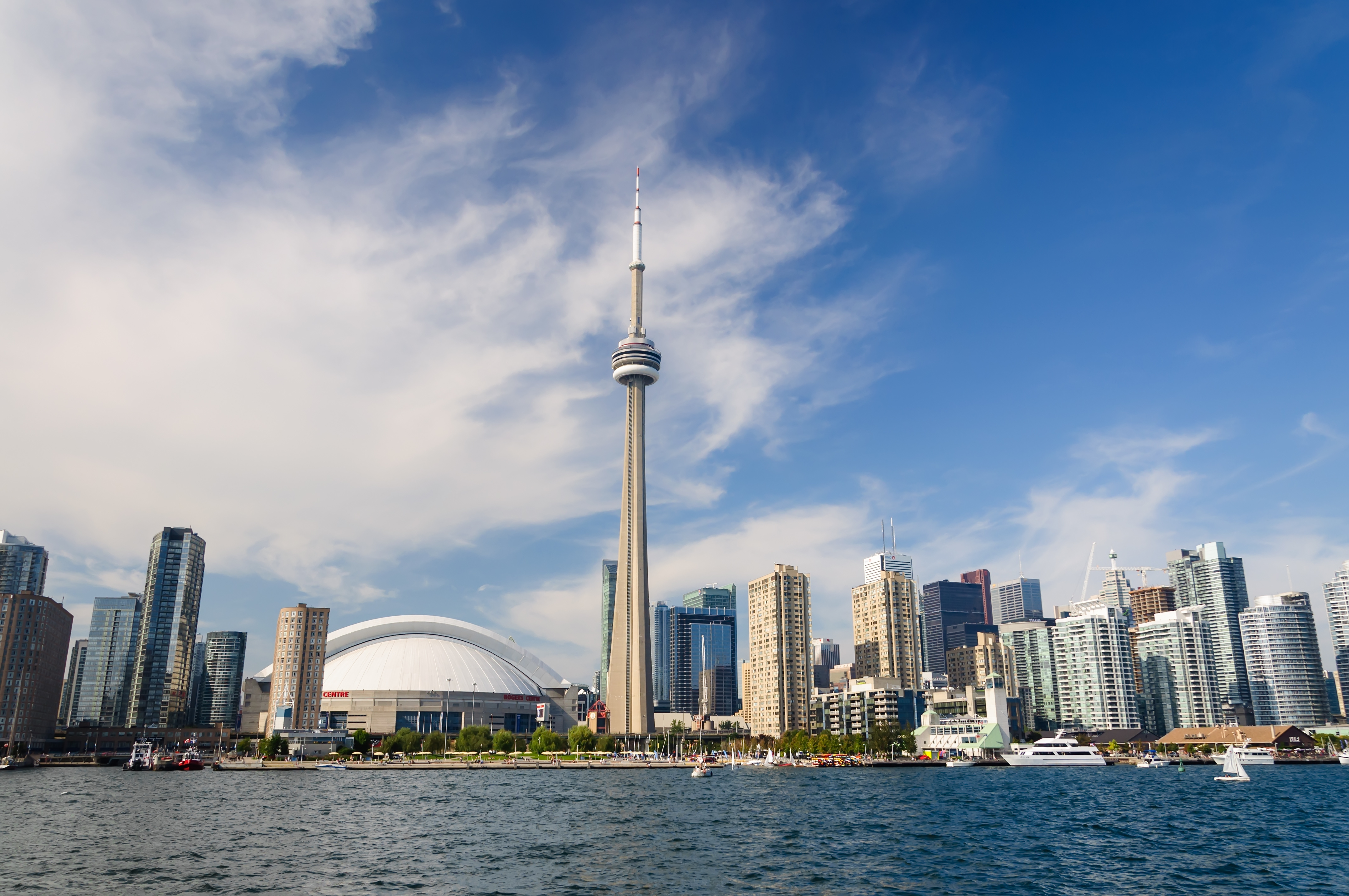 Toronto cityscape from Lake Ontario. Canada