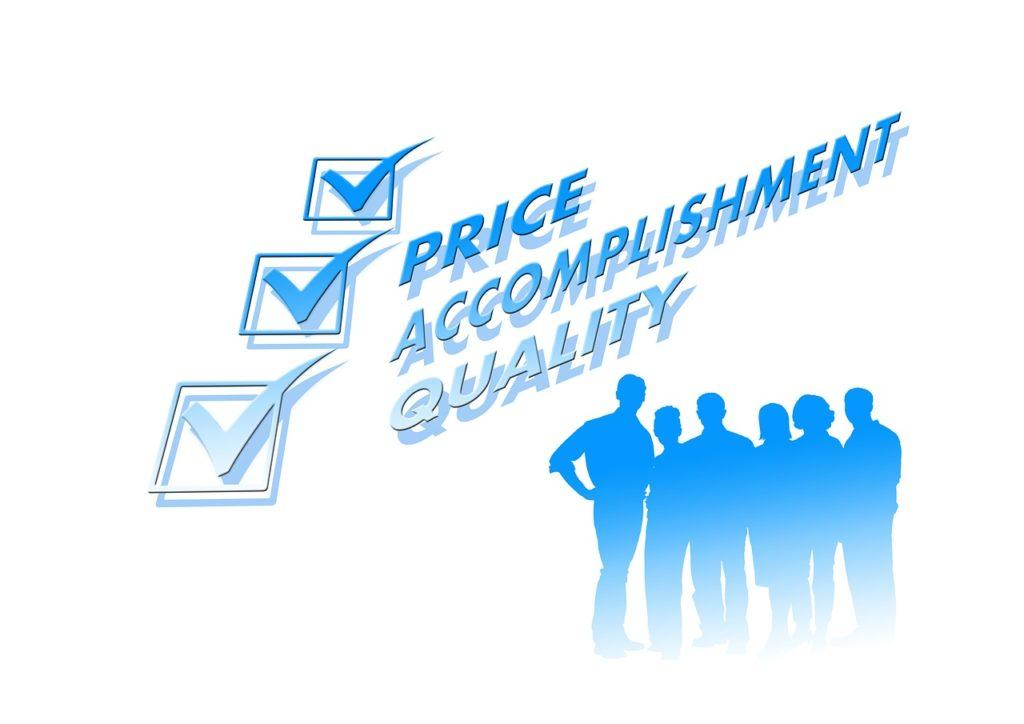 Price, Accomplishment, Quality
