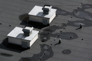 pooling water flat roof