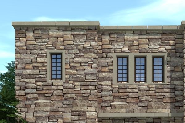 flat roof stone design