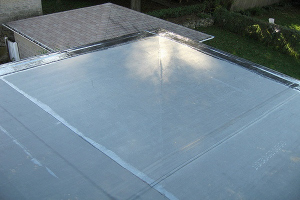 a typical TPO roof with added gloss and color