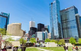beautiful view of Toronto buildings