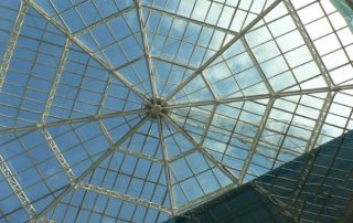 a complete transparent polycarbonate roof