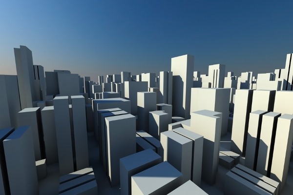 3d illustrations of tall buildings in Toronto on