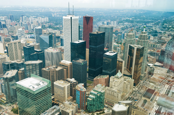 rubber roofs for flat roofs on several toronto on buildings