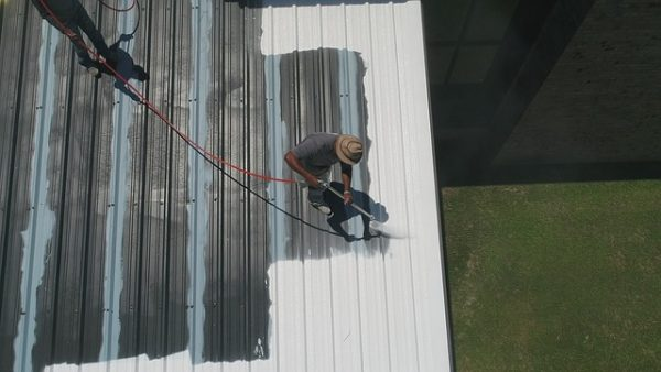 Flat roof coating procecedure