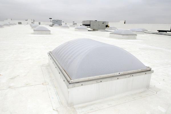 white TPO roofing membrane